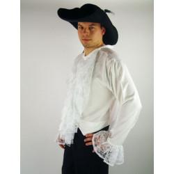 Chemise à jabots Blanc
