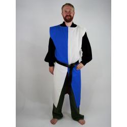 "Tunique ""Echiquier"" Blanc/Bleu"
