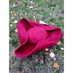 Chapeau en feutre de laine...